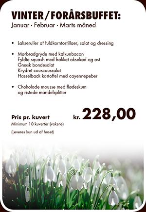 Vinter / forårsbuffet hos Skipperkroen